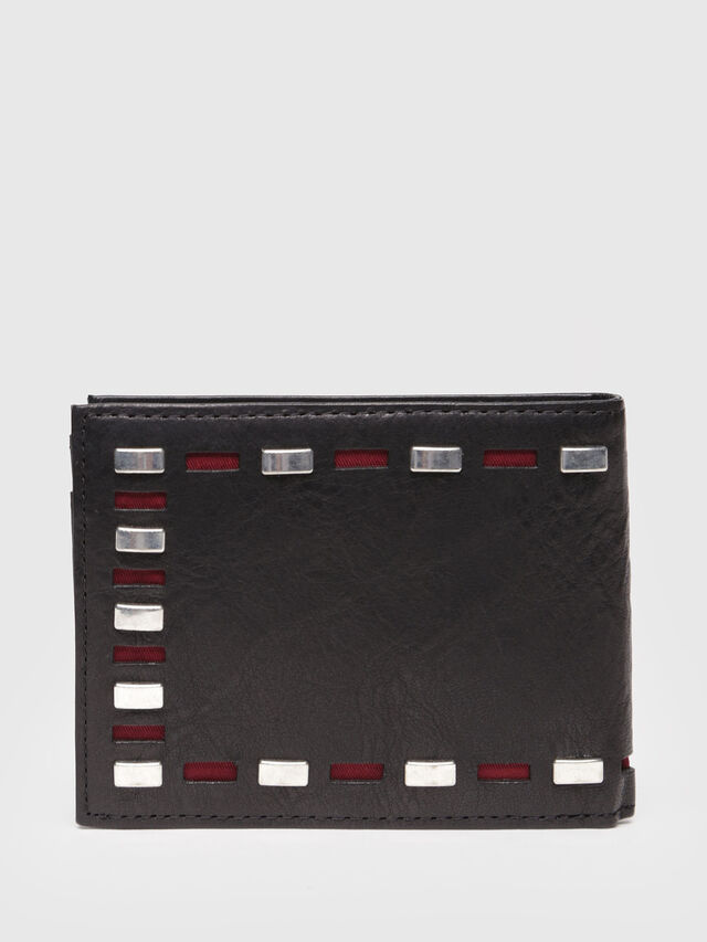 Diesel - HIRESH XS, Black Leather - Small Wallets - Image 2