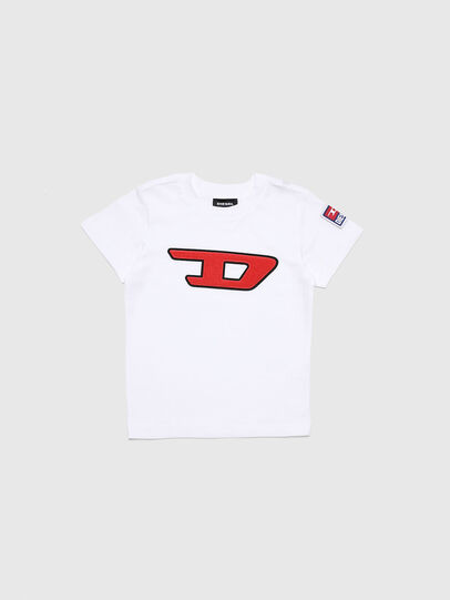 Diesel - TJUSTDIVISIONB-D-R, White - T-shirts and Tops - Image 1