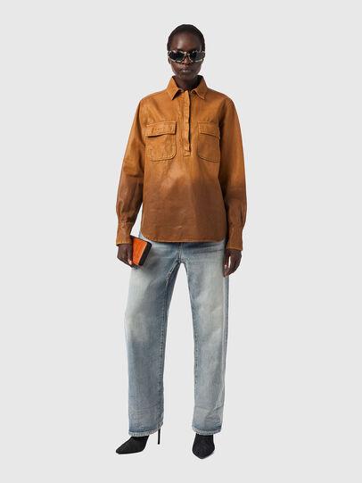 Diesel - DE-EVE-SP, Brown - Denim Shirts - Image 4