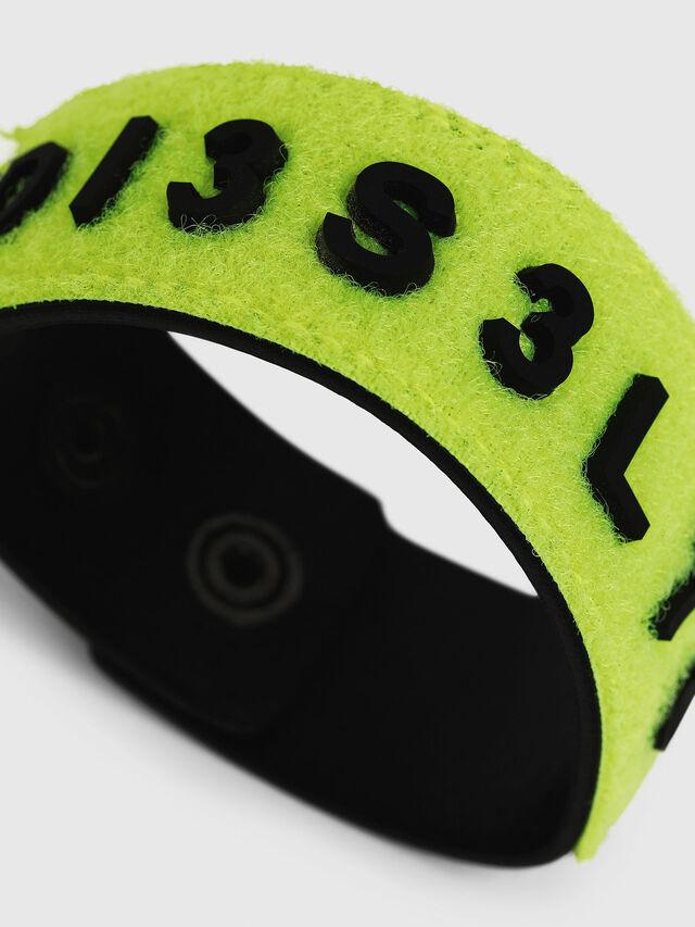 Diesel - AESTHETIC BRACELET, Yellow Fluo - Bijoux and Gadgets - Image 2
