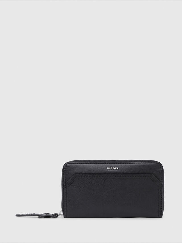 Diesel - GRANATO, Black/Grey - Zip-Round Wallets - Image 1