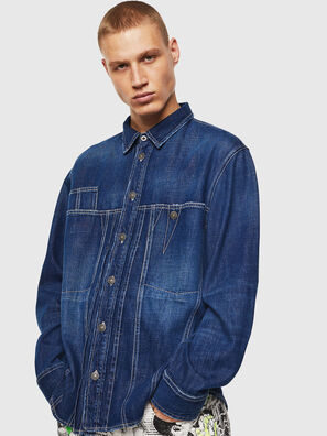 D-FLOX, Medium blue - Denim Shirts