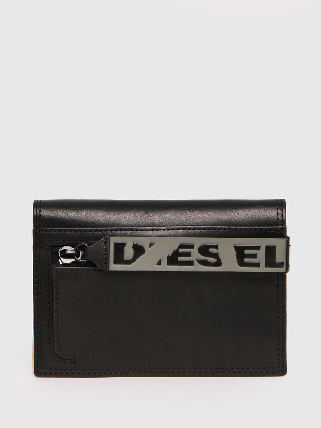 Diesel - N-PASSME, Black/Yellow - Small Wallets - Image 1
