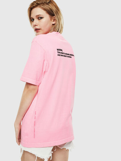Diesel - T-JUST-NEON, Pink - T-Shirts - Image 4