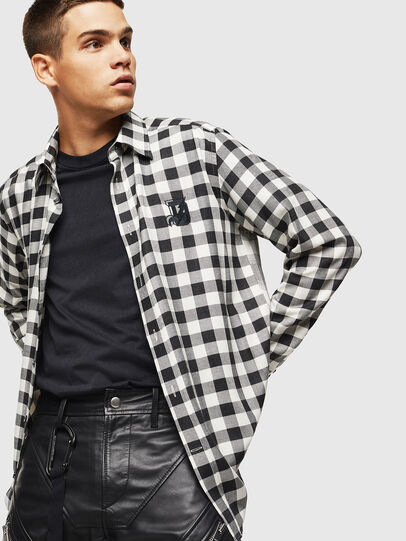 Diesel - S-VEN-CHECK, Black/White - Shirts - Image 4