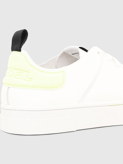 Diesel - S-CLEVER LS, White/Yellow - Sneakers - Image 4