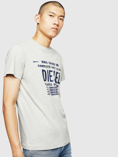 Diesel - T-DIEGO-B6, Light Grey - T-Shirts - Image 1
