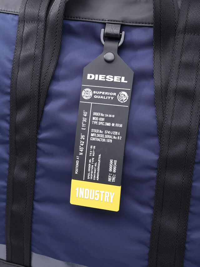 Diesel - VOLPAGO TOTE, Blue/Black - Shopping and Shoulder Bags - Image 4