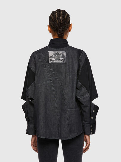 Diesel - DE-RINGLE, Black - Denim Shirts - Image 2