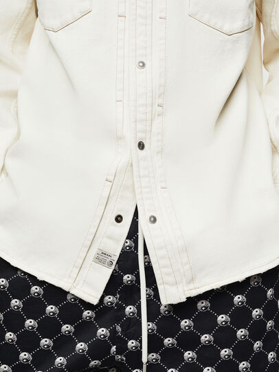 Diesel - D-BANDY-B, White - Denim Shirts - Image 5