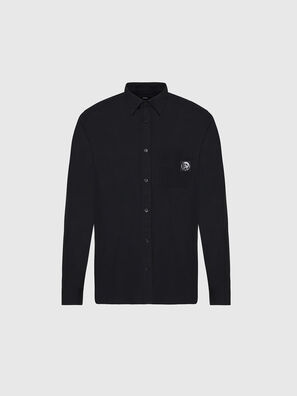 S-BILL-POCKET, Black - Shirts