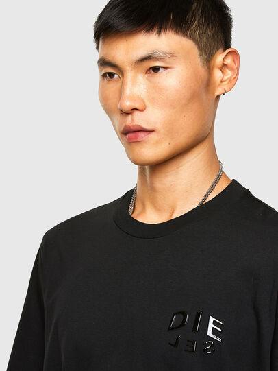 Diesel - T-JUST-SLITS-A30, Black - T-Shirts - Image 3