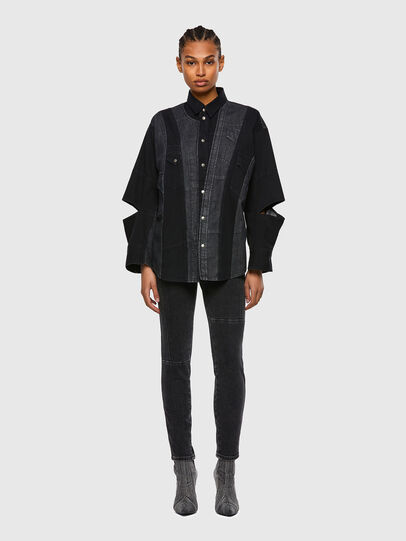 Diesel - DE-RINGLE, Black - Denim Shirts - Image 6