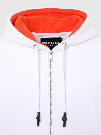 Diesel - UMLT-BRANDON-Z-SP, White/Orange - Sweaters - Image 4