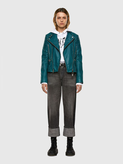 Diesel - L-MARS, Water Green - Leather jackets - Image 6