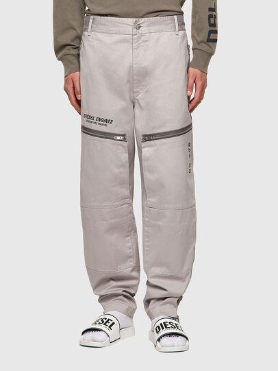 Diesel - P-AMBRIDGE-A, Light Grey - Pants - Image 1