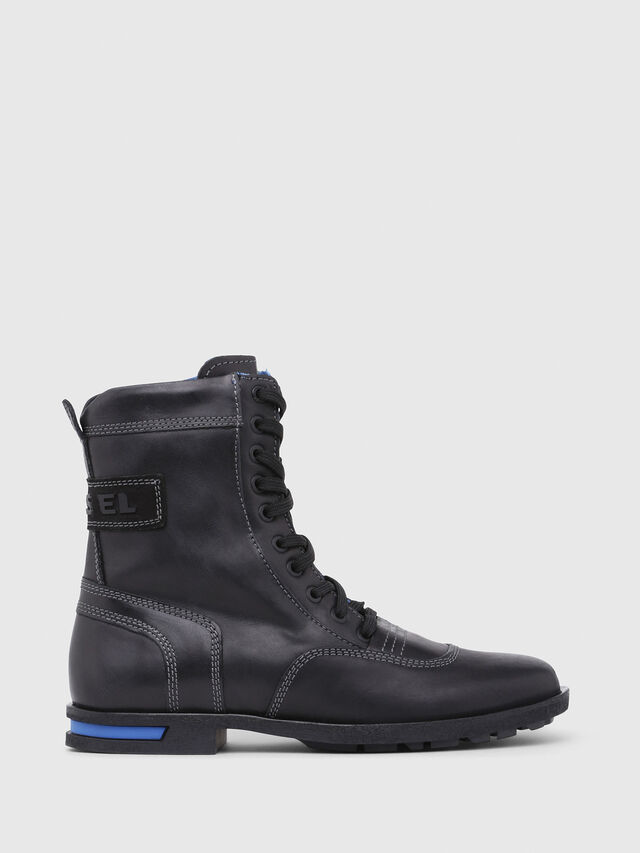 Diesel - D-OGTAG OXB LACE W, Opaque Black - Ankle Boots - Image 1