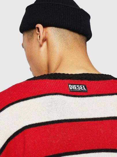 Diesel - K-LOVERY, Red/White - Knitwear - Image 6