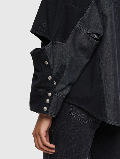 Diesel - DE-RINGLE, Black - Denim Shirts - Image 4