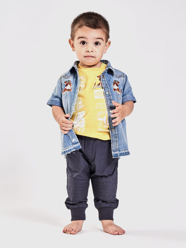 6647ad3f CATTOB Baby Boys: Short-sleeved shirt with embroidery | Diesel