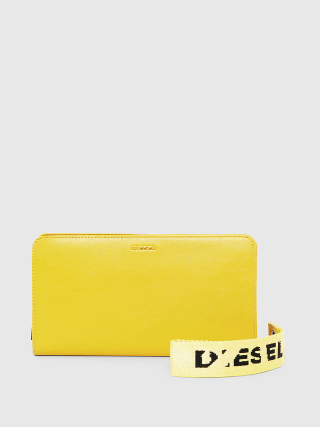 Diesel - NEW GRANATO LOOP, Yellow - Zip-Round Wallets - Image 1