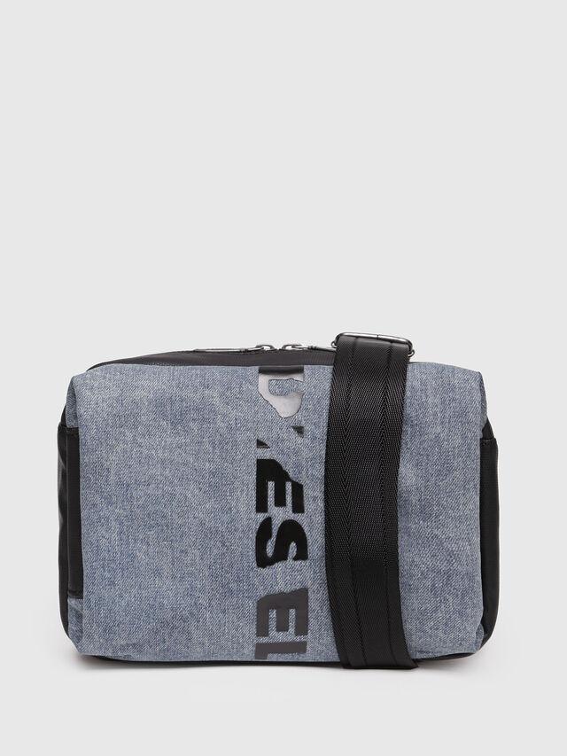 Diesel - D-SUBTORYAL SMALLCRO, Blue Jeans - Crossbody Bags - Image 1