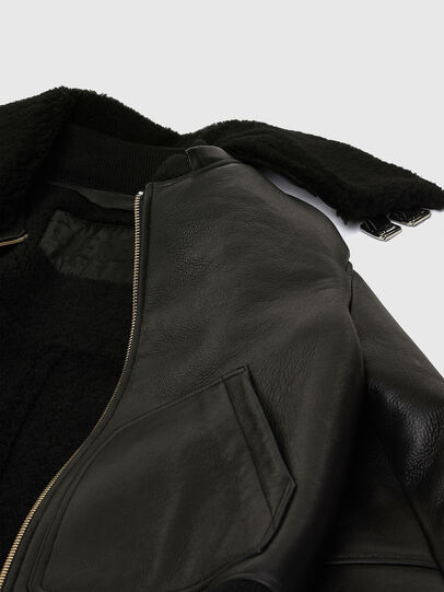 Diesel - L-ARNOLD, Black - Leather jackets - Image 8