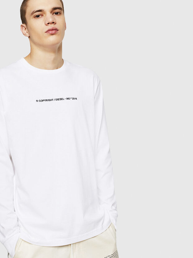 T-JUST-LS-COPY, White - T-Shirts