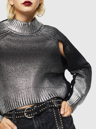 Diesel - M-FOLLY-A, Black/Silver - Knitwear - Image 5