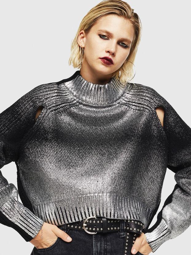 M-FOLLY-A, Black/Silver - Knitwear