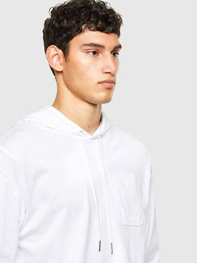 Diesel - T-FONTAL-LS-HOOD, White - T-Shirts - Image 3