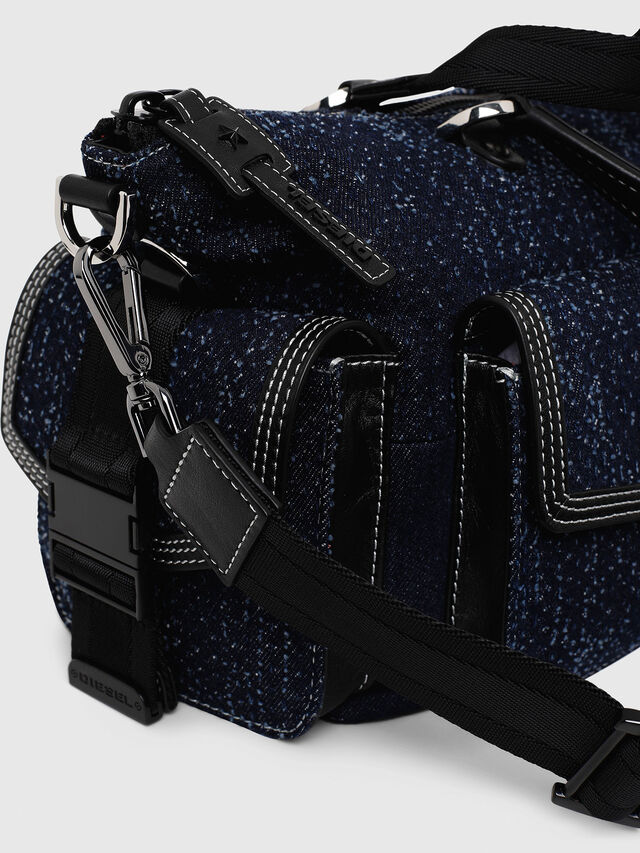 Diesel - MISS-MATCH SATCHEL M, Blue Jeans - Satchels and Handbags - Image 3