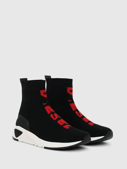 Diesel - S-KB MID ATHL SOCK, Black/Red - Sneakers - Image 2
