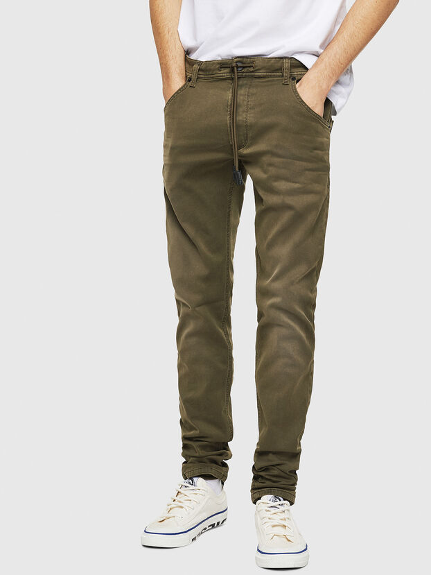 Krooley Long JoggJeans 0670M, Military Green - Jeans