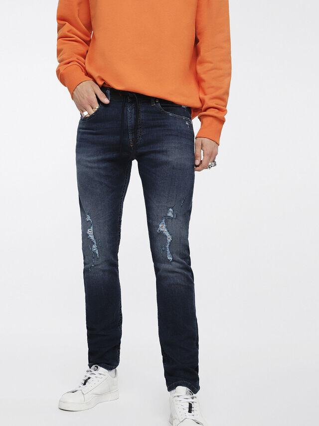 Diesel - Thommer JoggJeans 069BD, Dark Blue - Jeans - Image 1