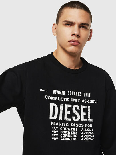 Diesel - S-GIR-B5, Black - Sweaters - Image 4