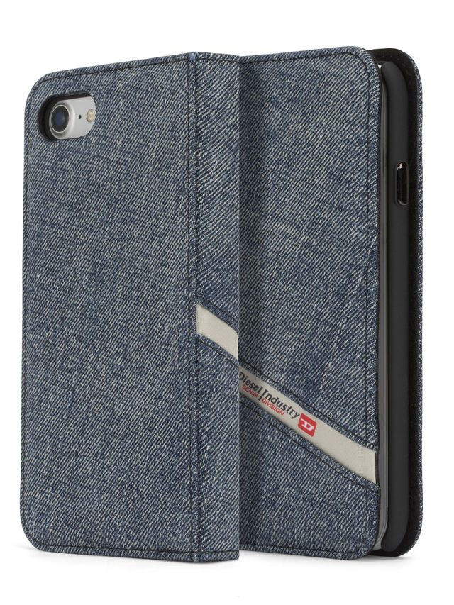 Diesel DENIM IPHONE 8 PLUS/7 PLUS FOLIO, Blue Jeans - Flip covers - Image 3