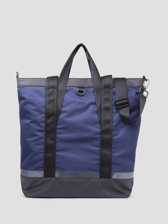 Diesel - VOLPAGO TOTE, Blue/Black - Shopping and Shoulder Bags - Image 1