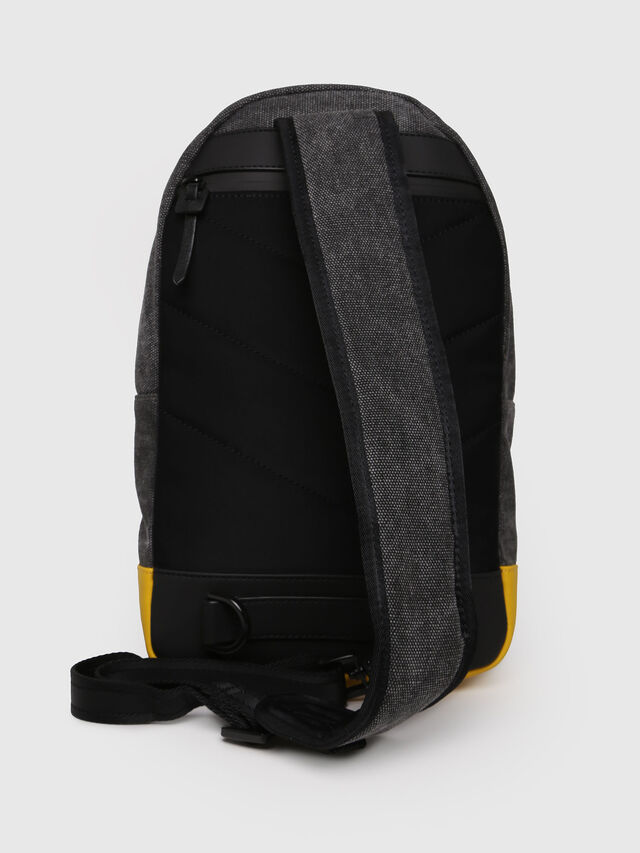 Diesel - M-CAGE MONO, Black/Yellow - Backpacks - Image 2