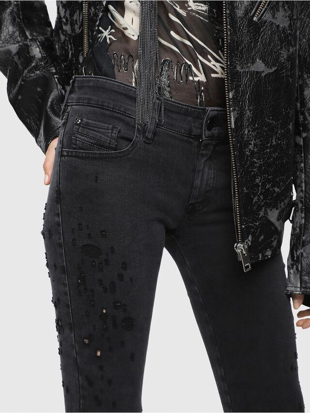 Diesel - Slandy Low 085AW, Black/Dark grey - Jeans - Image 4