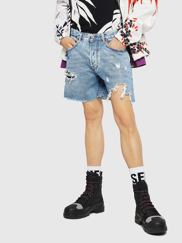 Diesel - D-KIRM, Blue Jeans - Shorts - Image 1