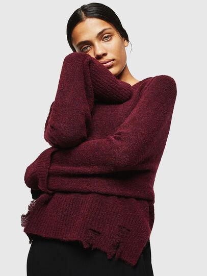 Diesel - M-MARIKAX, Burgundy - Knitwear - Image 1