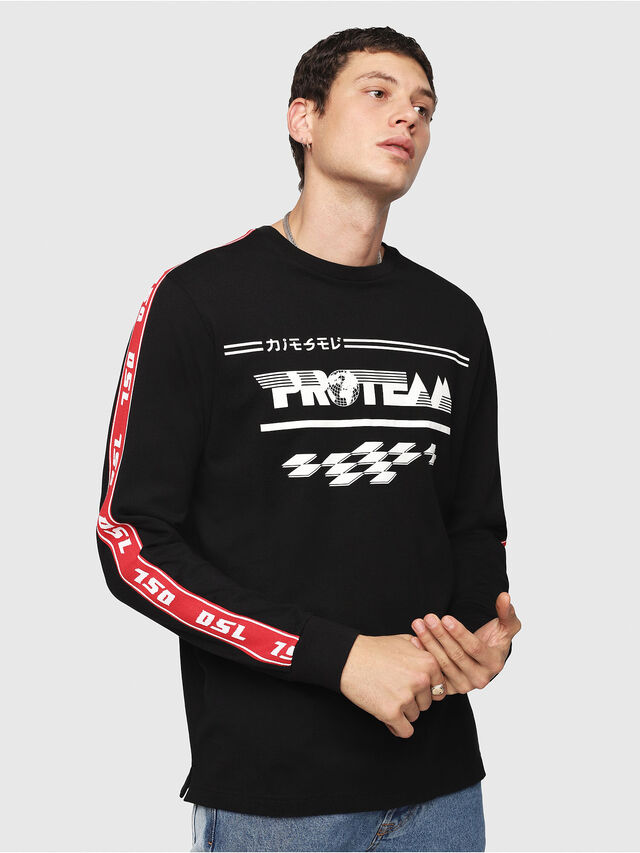 359a5863 T-JUST-LS-RACE Men: Long sleeve T-shirt with racer graphic | Diesel