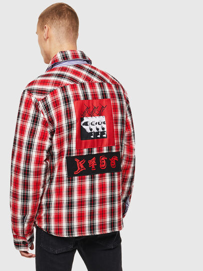 Diesel - S-JOHNS, Red/Black - Shirts - Image 2