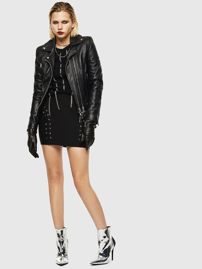 Diesel - L-CARAMA, Black - Leather jackets - Image 7
