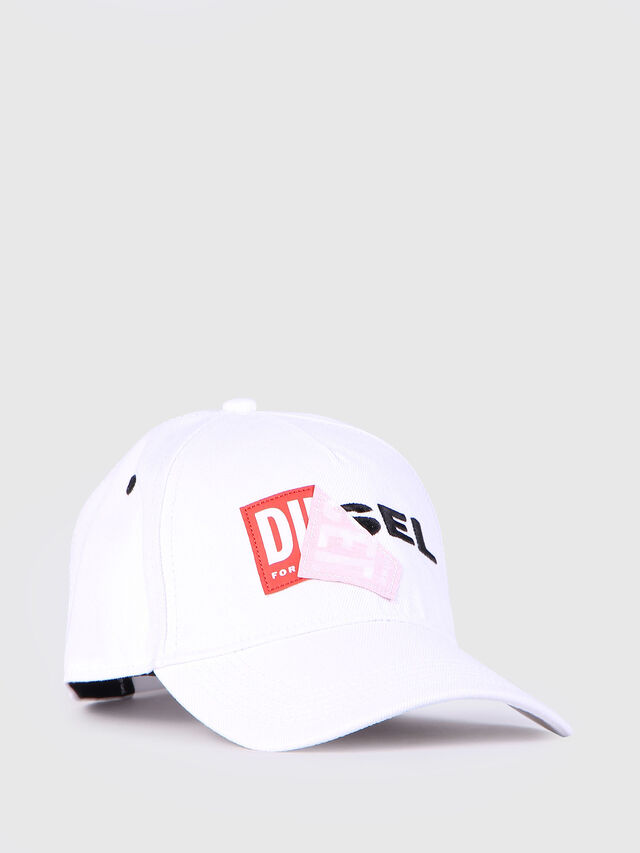 Diesel CAKERYM, White - Caps, Hats and Gloves - Image 1