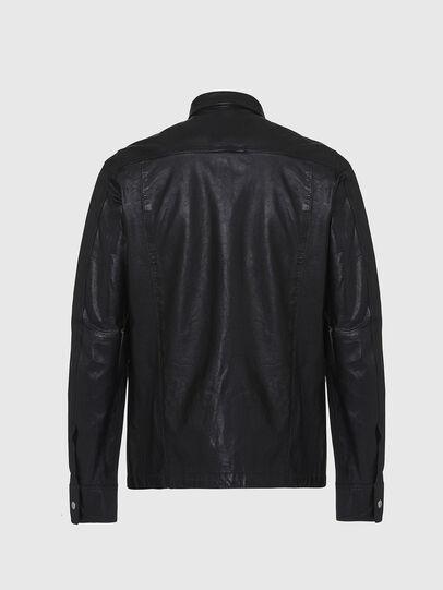 Diesel - L-MALIK, Black - Leather jackets - Image 2