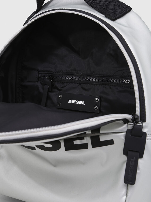 Diesel - F-BOLD BACK FL, Silver - Backpacks - Image 3