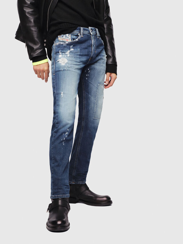 Diesel - Thommer JoggJeans 087AK, Medium blue - Jeans - Image 1