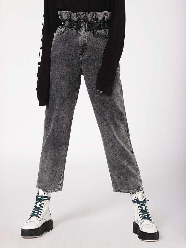 Diesel - Kalley JoggJeans 069AU, Black/Dark grey - Jeans - Image 1